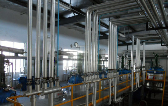 It is a manufacturing facility for preparing raw materials for the manufacture of substances. Here it is being prepared for production.
